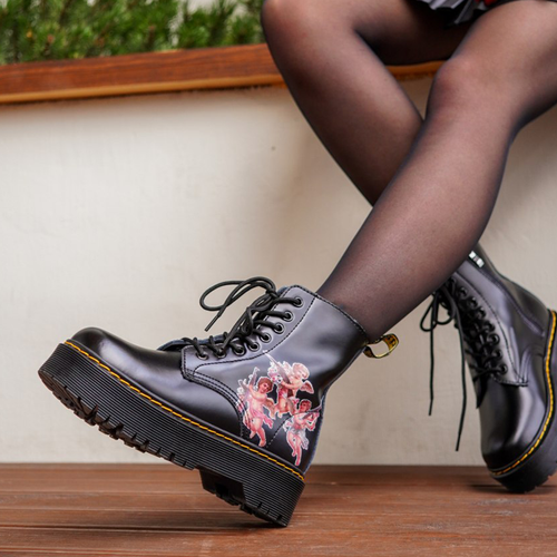 Dr.Martens Jadon black angels with zipper thermo