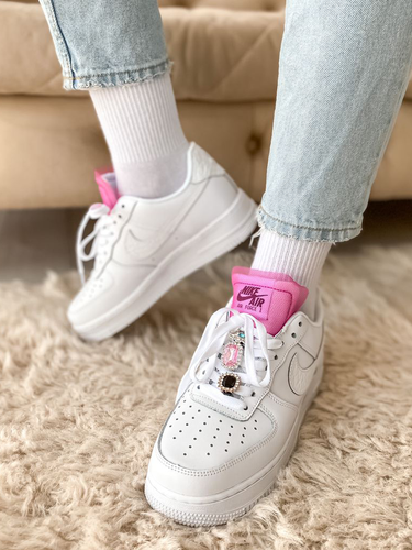 Кроссовки женские Nike Air Force 1 LX White Lace premium