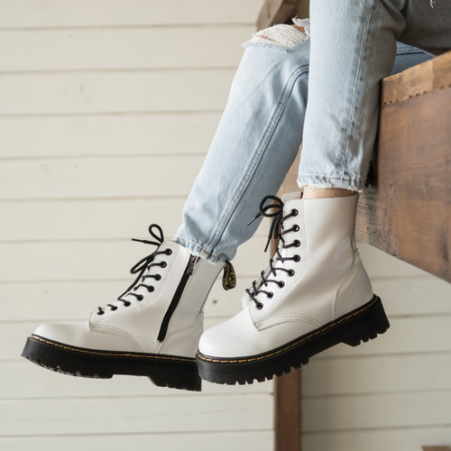 Dr.Martens Jadon white black with zipper thermo