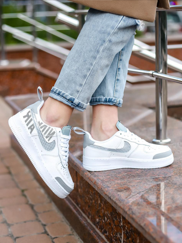 Кроссовки унисекс Nike Air Force 1 low LV8 2 white/grey premium