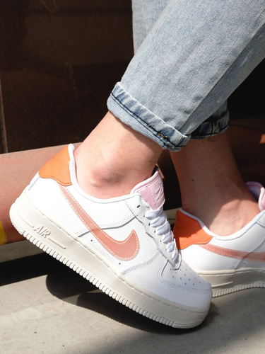 Кроссовки женские Nike Air Force 1 low digital pink adds beige soles premium