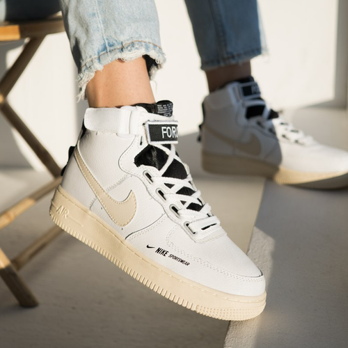 Кроссовки женские Nike air force 1 high utility white light cream premium