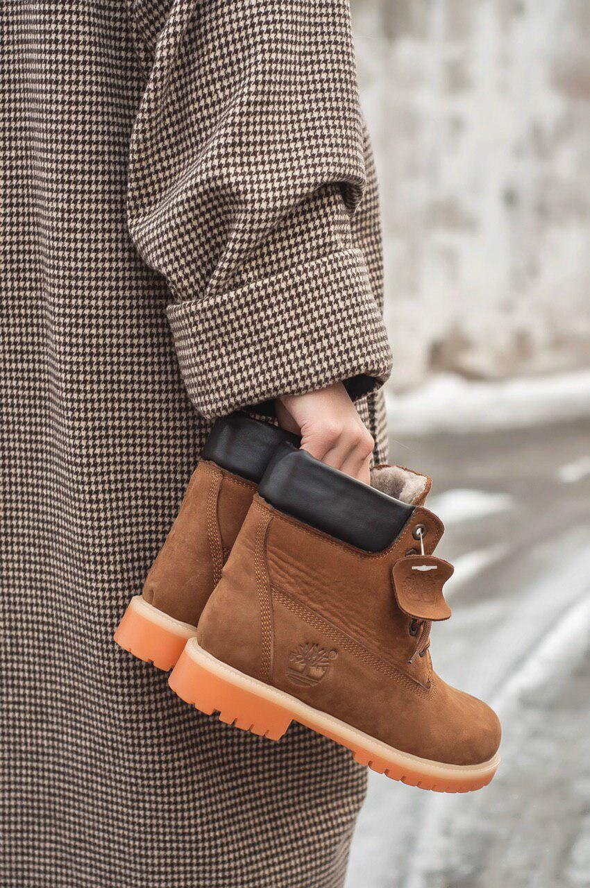 Ботинки женские Timberland 6 Inch Premium Brown FUR